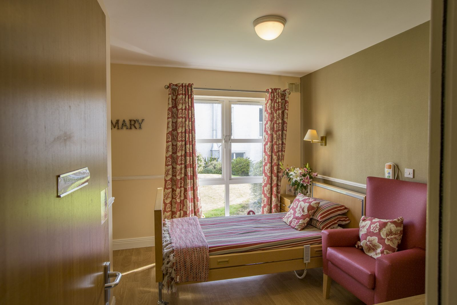 one of the care home bedroom