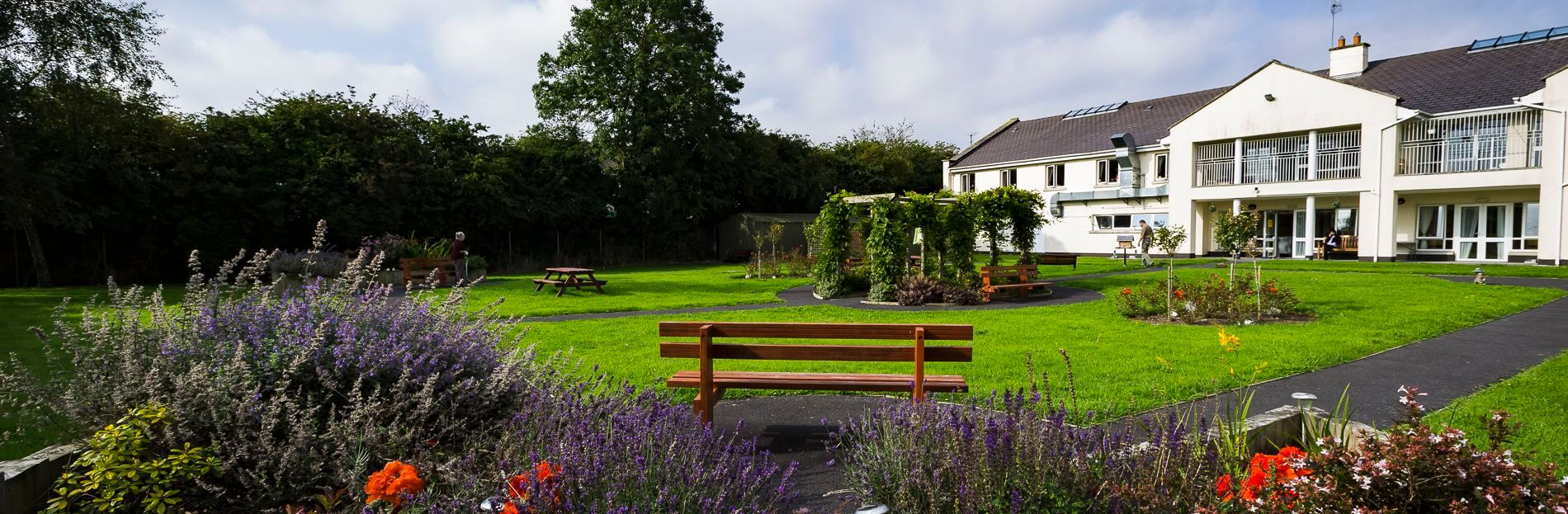 The gardens at Suncroft Lodge, the Curragh, Co Kildare