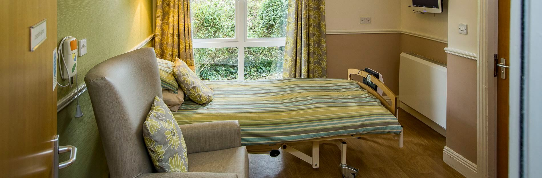 Residents bedroom at Trinity Care nursing home